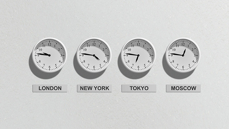 World Time Relative to Japan