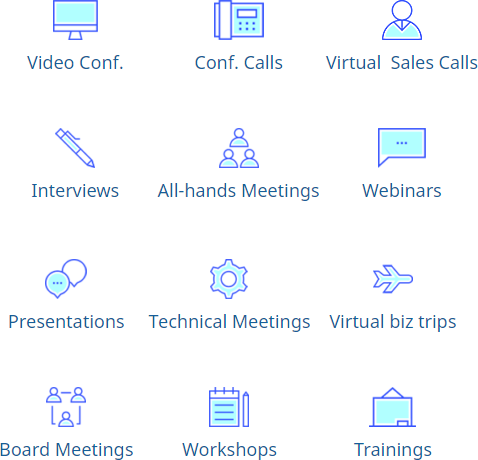 Virtual in-house interpreters for all your remote communication needs!​