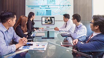 Video or telephone conferences between your US office and client in Japan